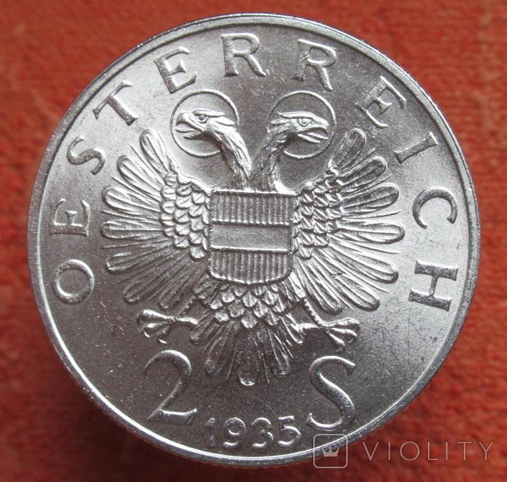 "2 шиллинга 1935 г. ""Карл Люгер"", Австрия, серебро, фото №5"