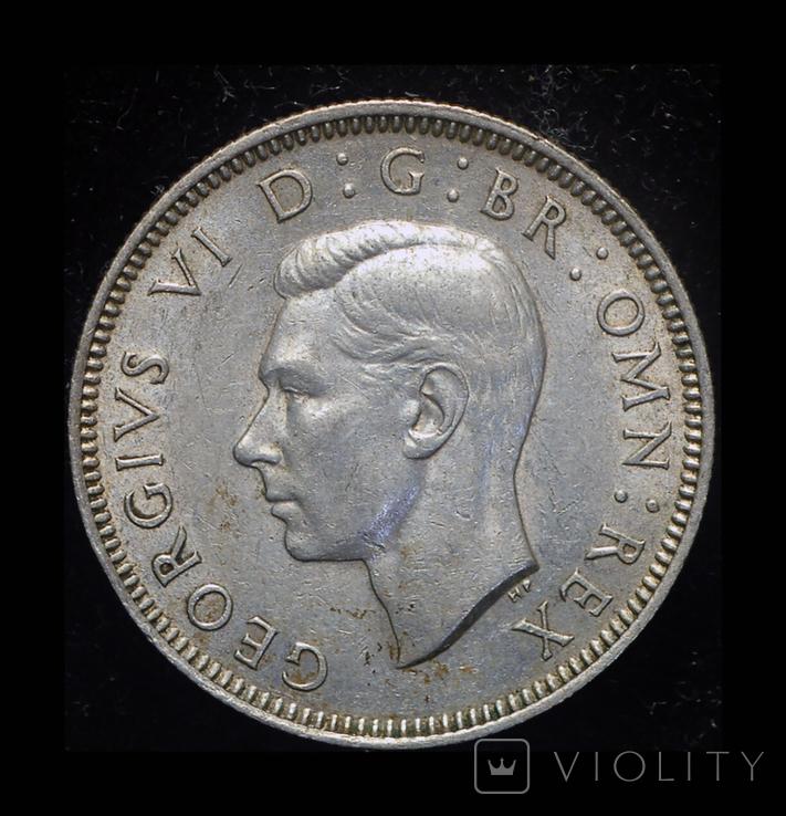 Великобритания шиллинг 1939 Unc серебро, фото №3