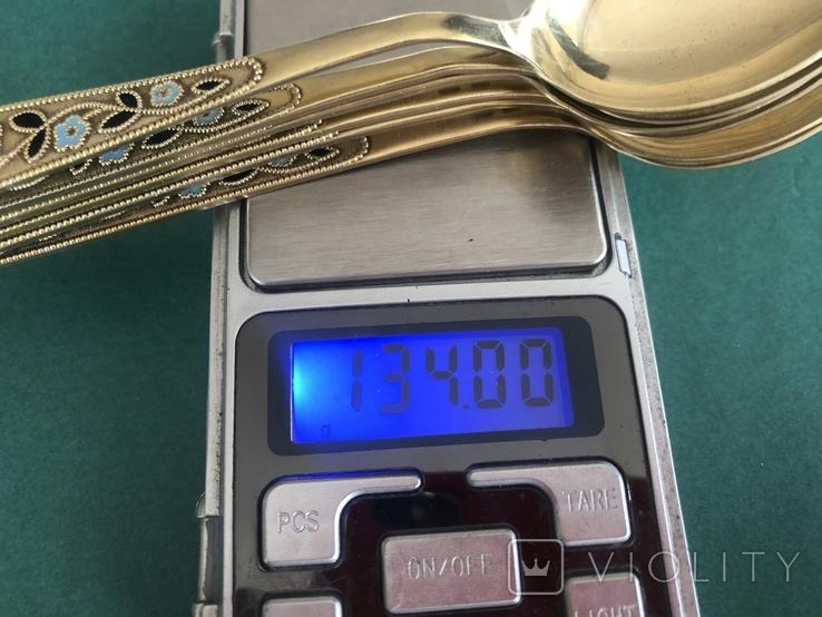 Набор ложек с эмалью. Период СССР, фото №7