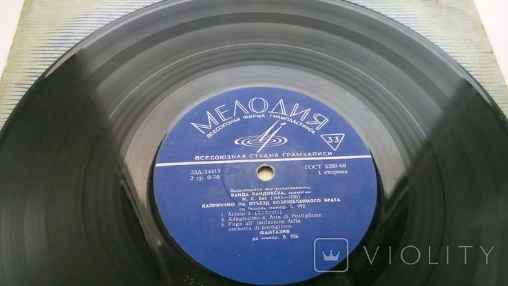 "Ванда Ландовска (клавесин) И.С.Бах / И.К.Ф.Фишер (10"") VG, фото №4"