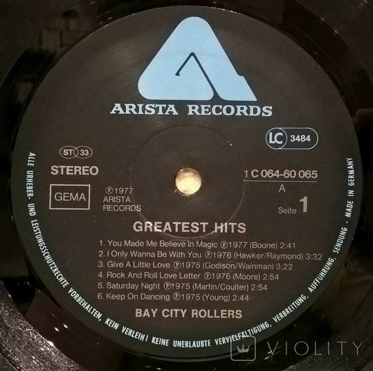 Bay City Rollers  (Greatest Hits) 1975-77. (LP). 12. Vinyl. Пластинка. Germany., фото №4