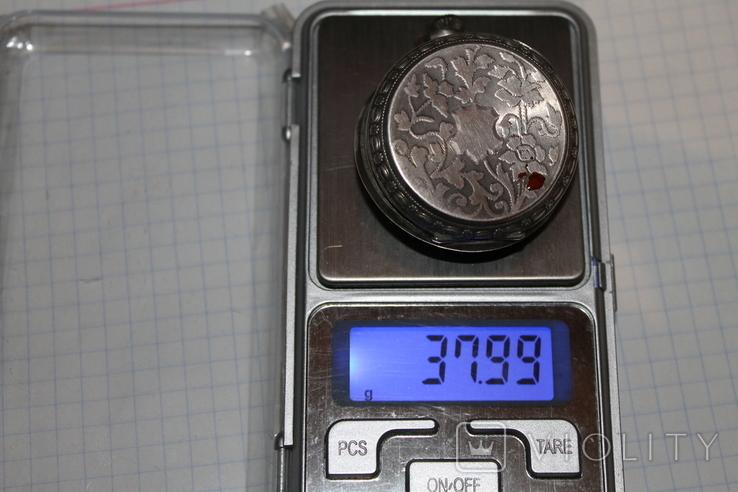 Часы карманные серебро, фото №8