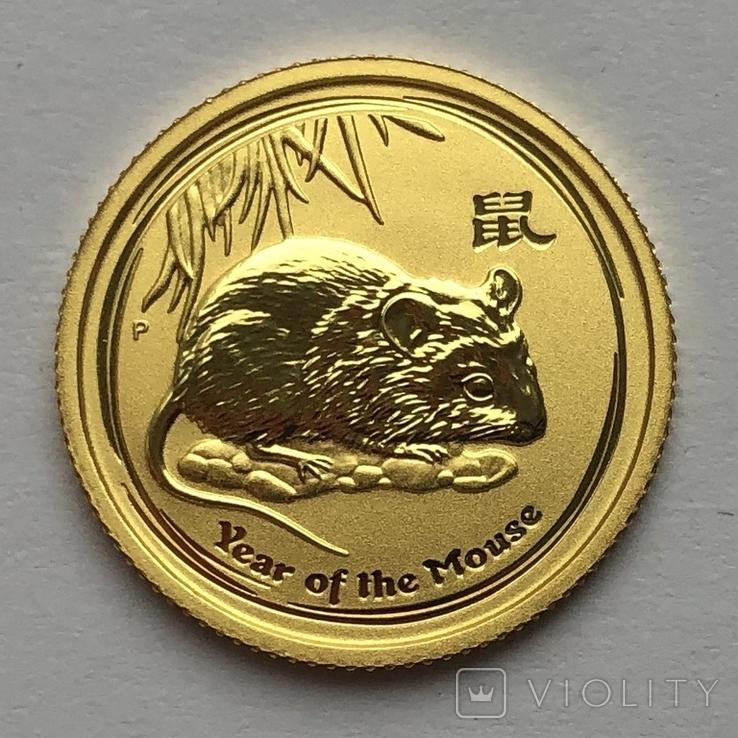 15 долларов 2008 года. Год Крысы. 1/10 унции, фото №2