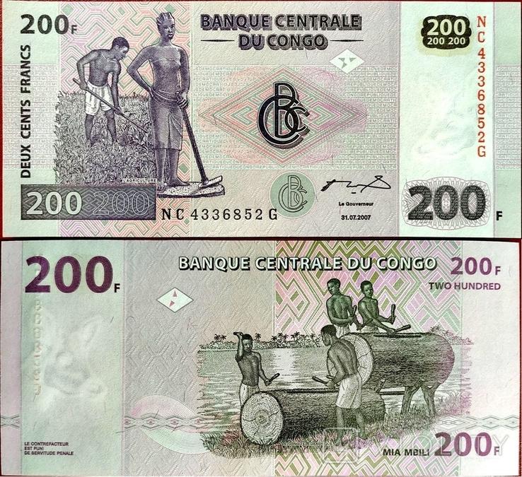 Конго Congo DR - 200 франк franc - 2013 - UNC