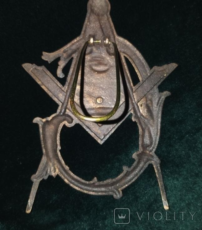 Масонский  ритуальная герб знак табличка настольная, фото №3