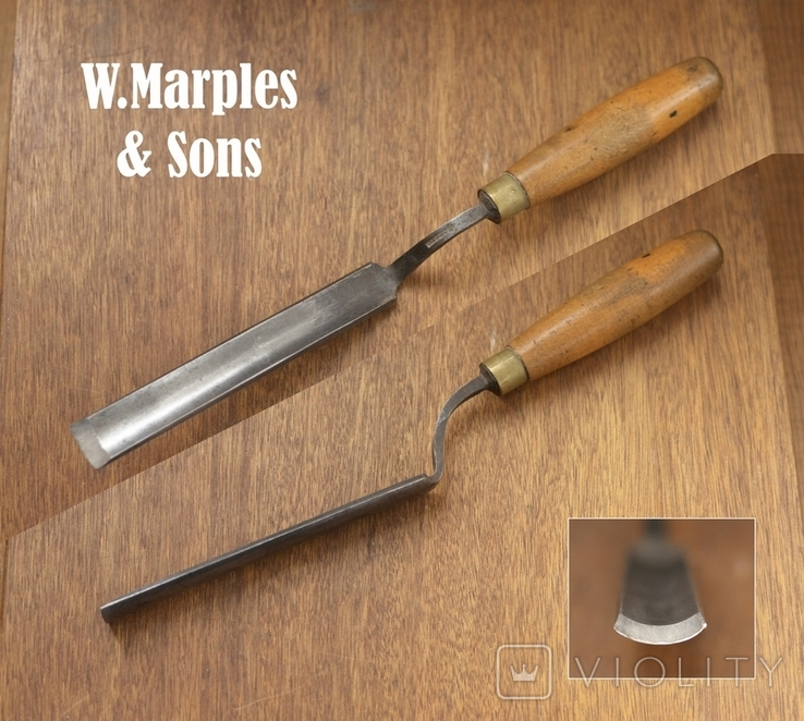 W.Marples & Sons, Sheffield, England Стамеска отлогая шириной 25мм,