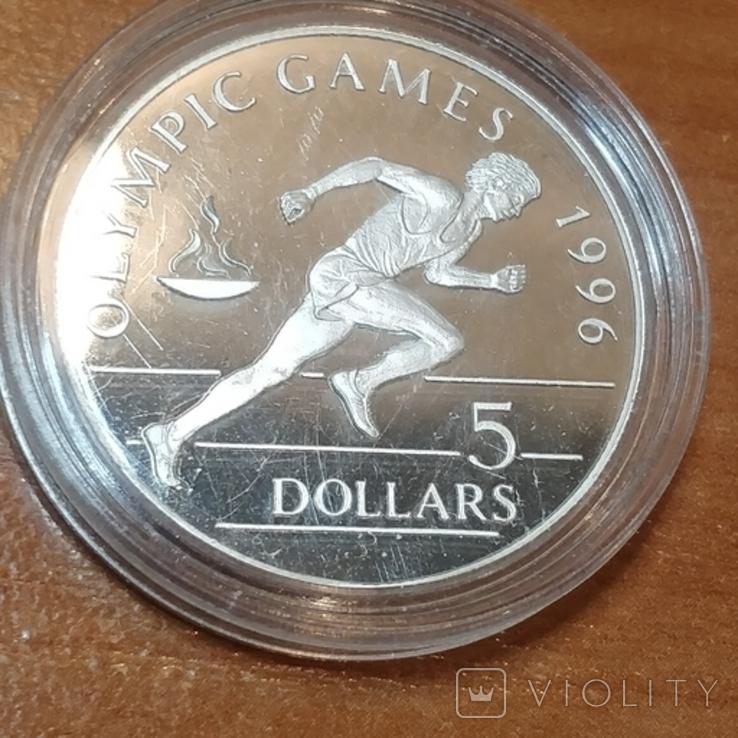 Ниуэ 1992г.Олимпиада 5 долларов,1996 г., фото №3