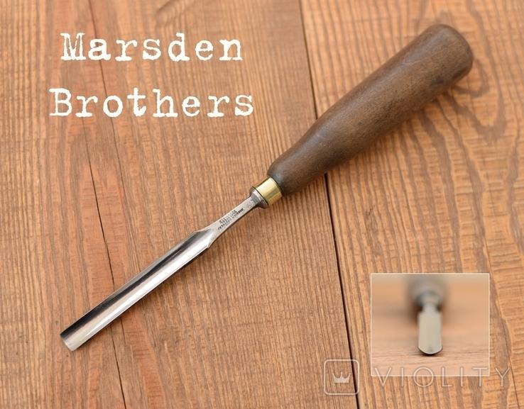 Marsden Brothers, Sheffield, England Антикварная отлогая стамеска шириной 11мм