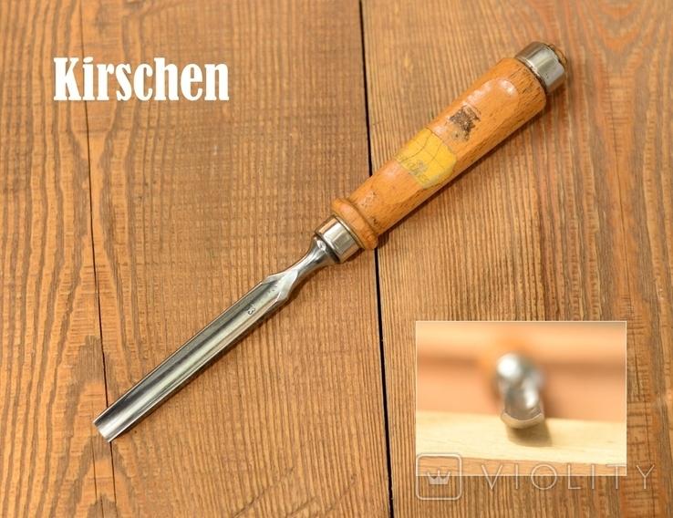 Wilhelm Schmitt, Remscheid, Germany Винтажная полукруглая стамеска шириной 13мм