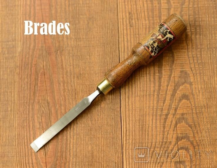 Brades William Hunt & Sons England Антикварная плоская стамеска шириной 13мм