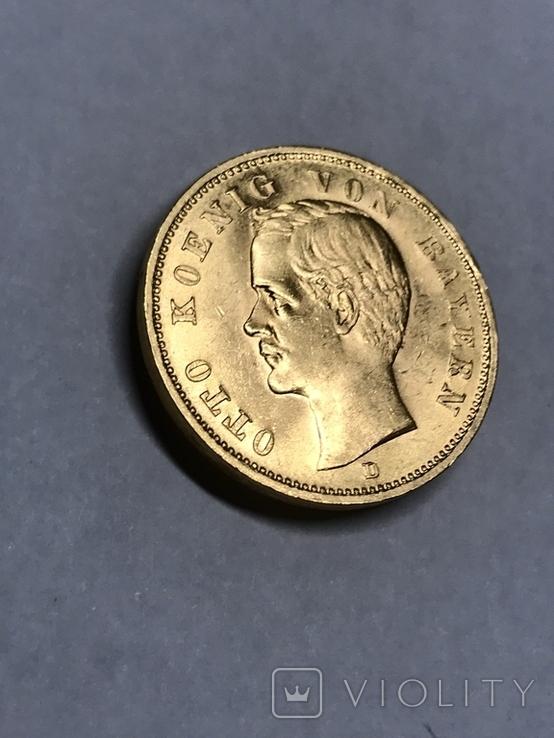 20 марок 1900 D Бавария Отто, фото №3