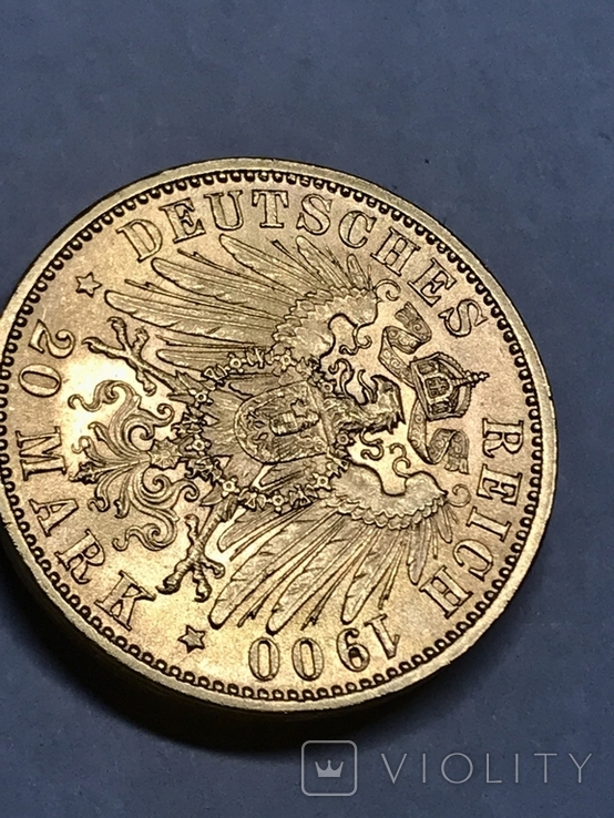 20 марок 1900 D Бавария Отто, фото №6