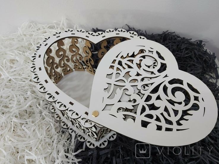Шкатулка в виде сердца, фото №3