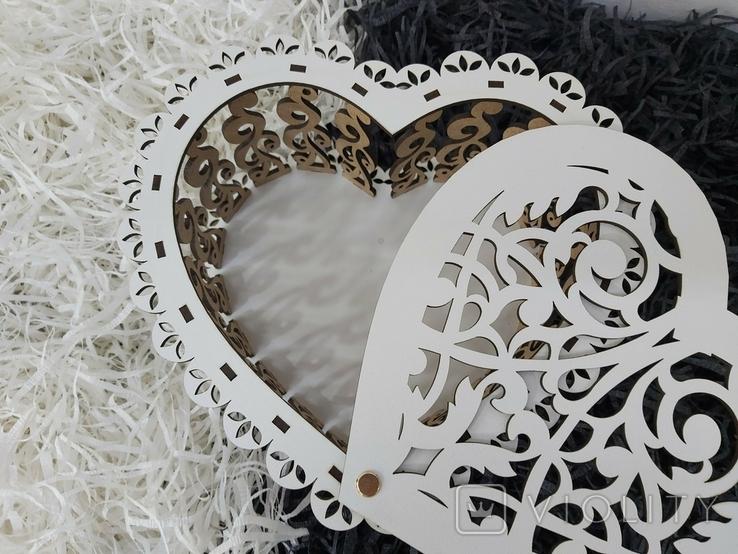 Шкатулка в виде сердца, фото №4