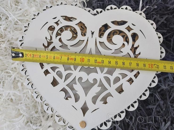 Шкатулка в виде сердца, фото №7