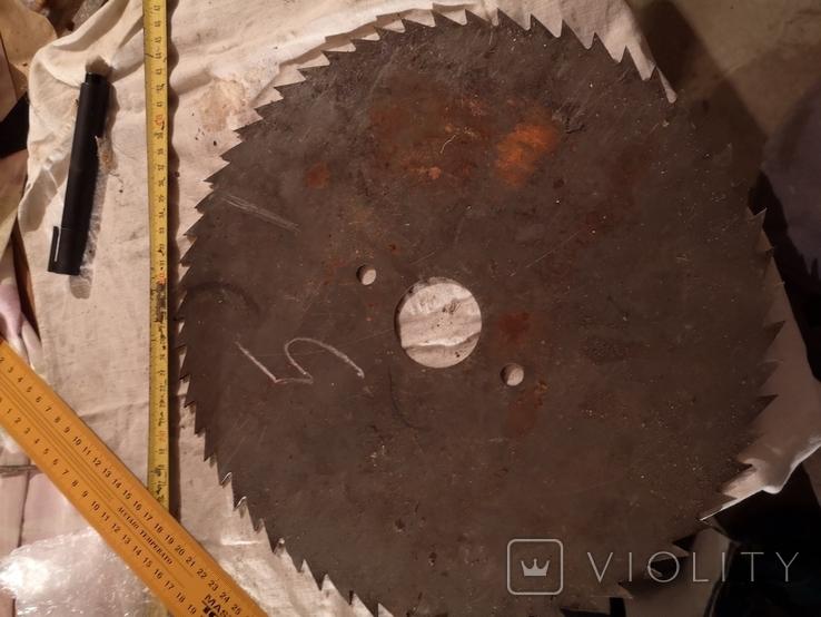 Диск отрезной для циркулярной пилы СССР большой, фото №6