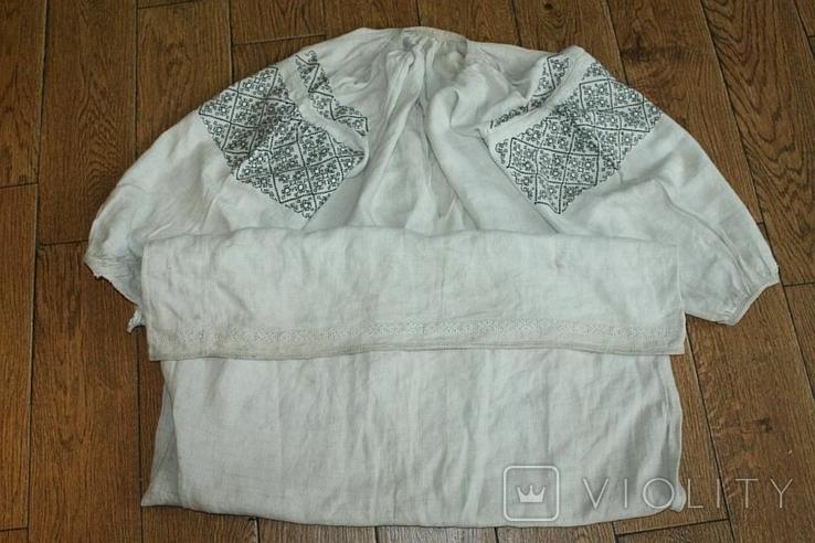 Сорочка вышиванка старинная №50, фото №3