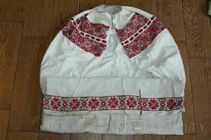 Сорочка вышиванка старинная №49, фото №3