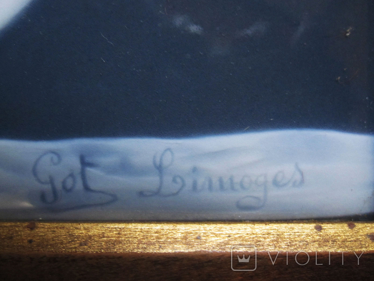 Картина на фарфоре подписная ( Фарфор Лимож ), фото №6