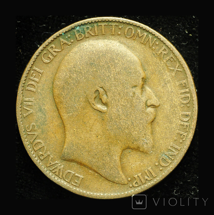 Великобритания 1/2 пенни 1908, фото №2