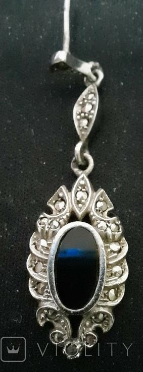 Набор серебро подвеска (кулон) и сережки Винтаж, фото №5