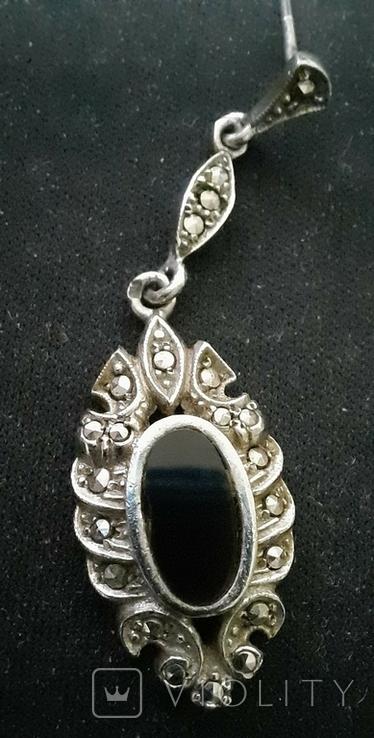 Набор серебро подвеска (кулон) и сережки Винтаж, фото №7