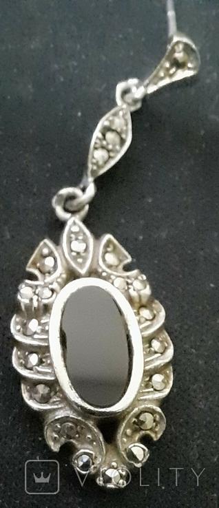 Набор серебро подвеска (кулон) и сережки Винтаж, фото №8