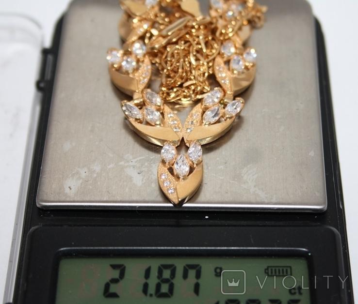 Набор серебряный с позолотой и золотыми накладками, фото №12