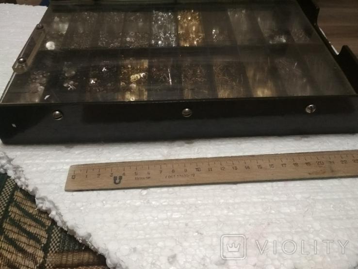 Запчасти (детали) к наручным часам разные, много, вместе с коробкой, фото №11