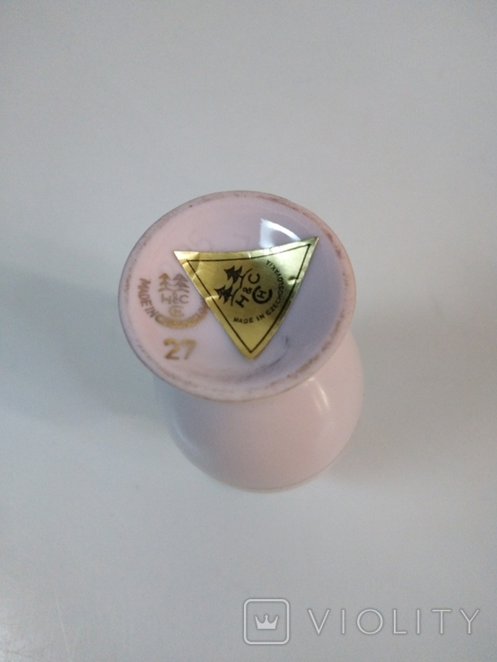 Кувшин из розового фарфора. Чехия, фото №4