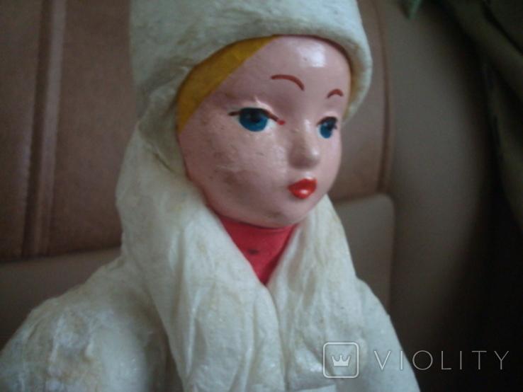 Снегурочка вата папье маше 1970г. 34см., фото №5