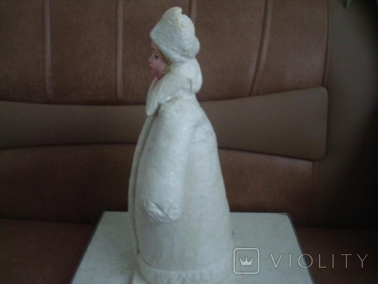 Снегурочка вата папье маше 1970г. 34см., фото №7