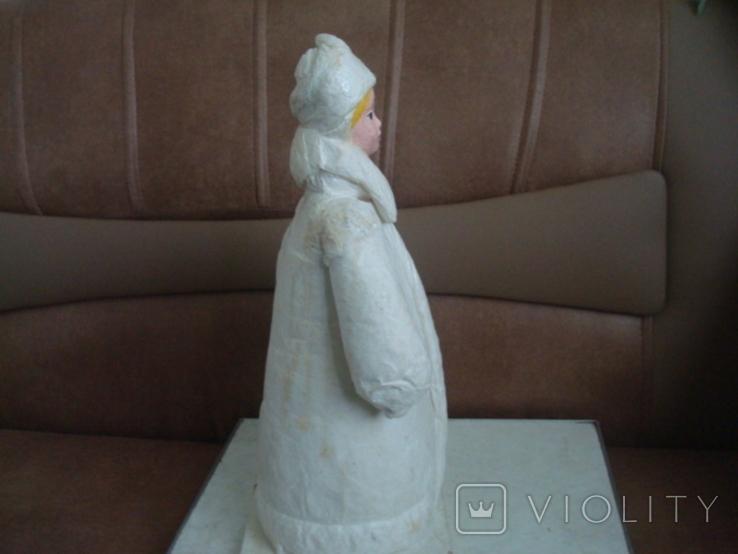 Снегурочка вата папье маше 1970г. 34см., фото №9