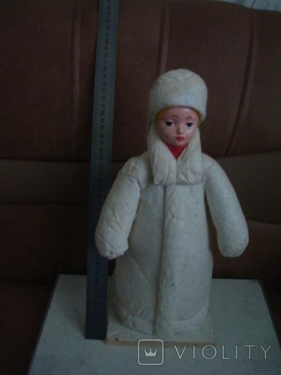 Снегурочка вата папье маше 1970г. 34см., фото №12