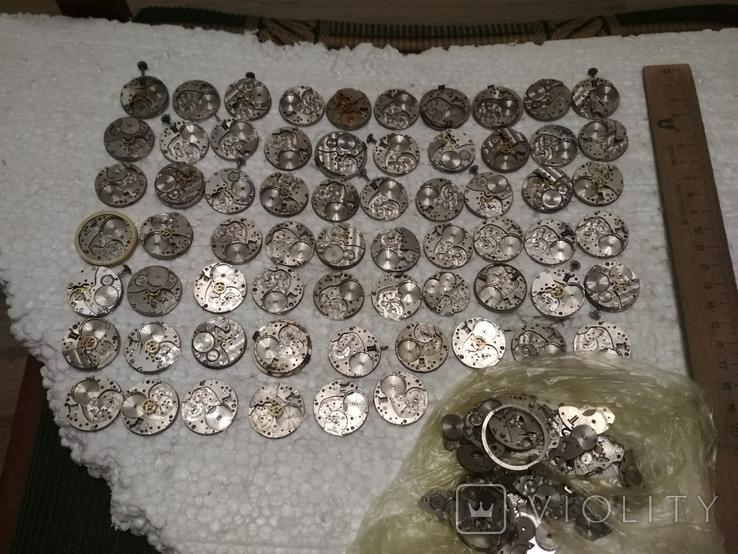 Механизмы или части механизмов к наручным часам, в основном ЗИМ, фото №2