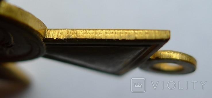Георгиевский крест . Жёлтый  металл. Копия., фото №8
