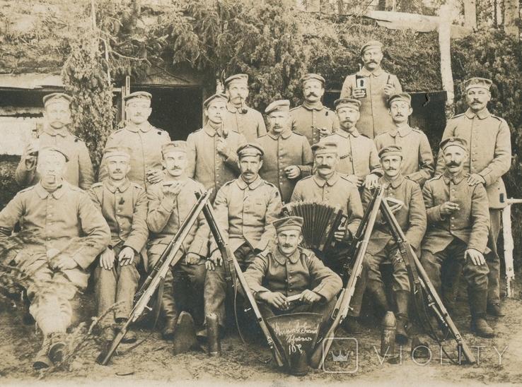 Германская Империя. Бойцы с винтовками., фото №2