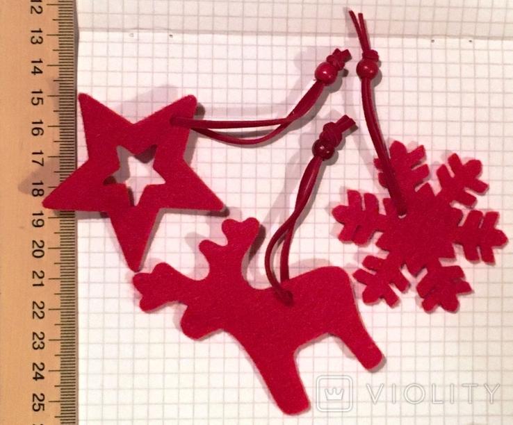 3 брендированные войлочные игрушки L'ambre / Ламбрэ (олень, звезда, снежинка), фото №5