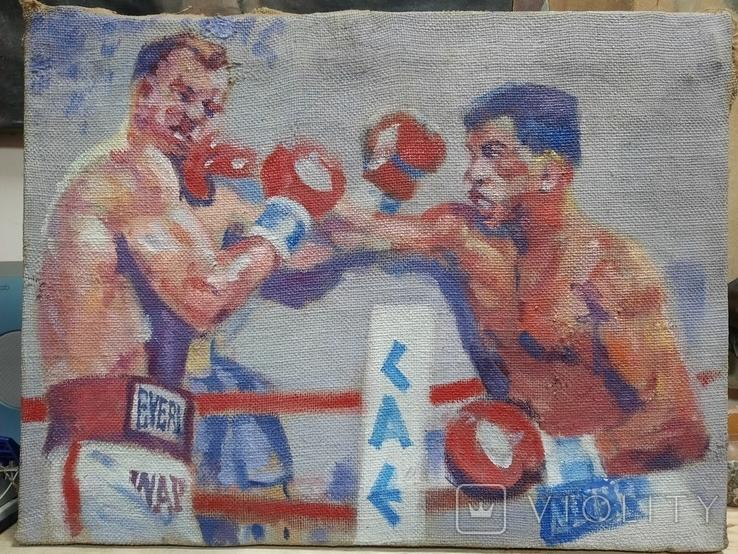 Картина Бой Бокс Ринг. Копия., фото №2