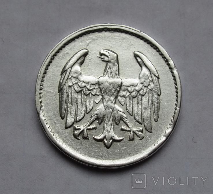 1 марка 1924 г. Монетный двор G, серебро, фото №6