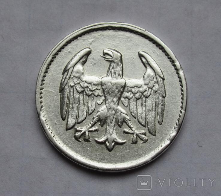 1 марка 1924 г. Монетный двор G, серебро, фото №7