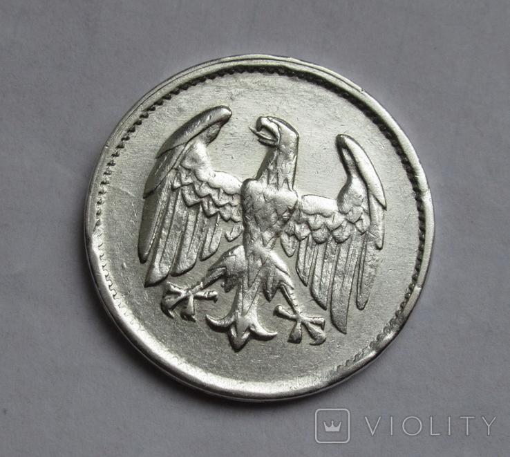1 марка 1924 г. Монетный двор G, серебро, фото №8