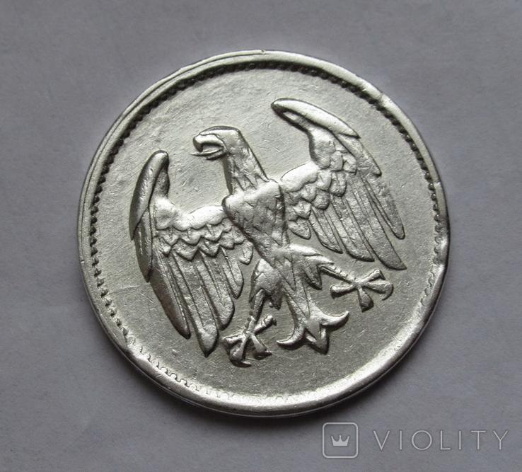 1 марка 1924 г. Монетный двор G, серебро, фото №9
