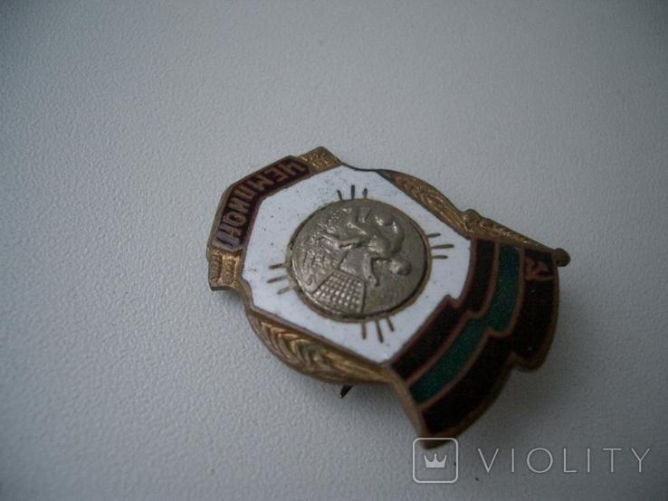 Значок республиканский СССР чемпион гандбол бронза, фото №3