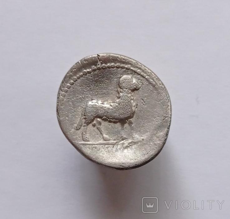 Денарий Римской республики Л. Рустий 74 г.до н. э., фото №3