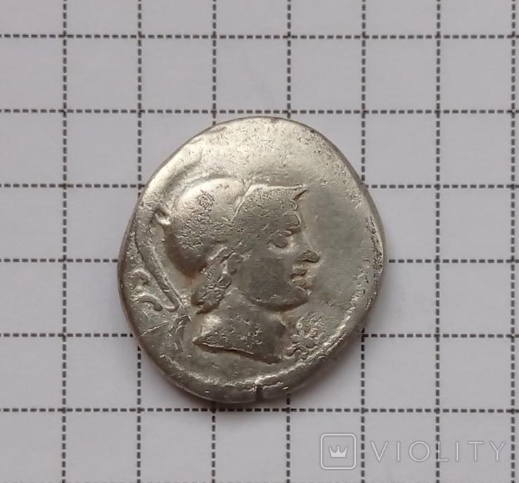 Денарий Римской республики Л. Рустий 74 г.до н. э., фото №4