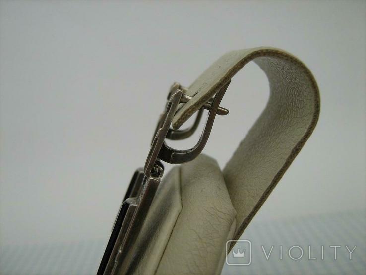 Серебряные Серьги Сережки Английская Застежка Длинные Свисающие 925 проба Серебро 040, фото №4