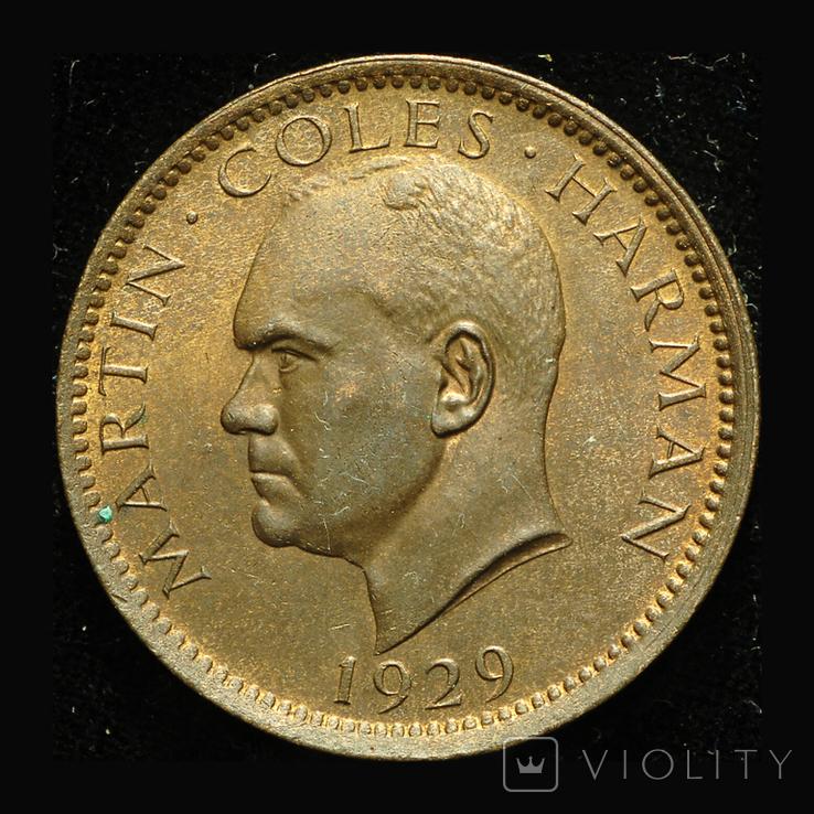 Ланди 1 паффин 1929 Unc оригинальный выпуск Мартина Хармана, фото №3