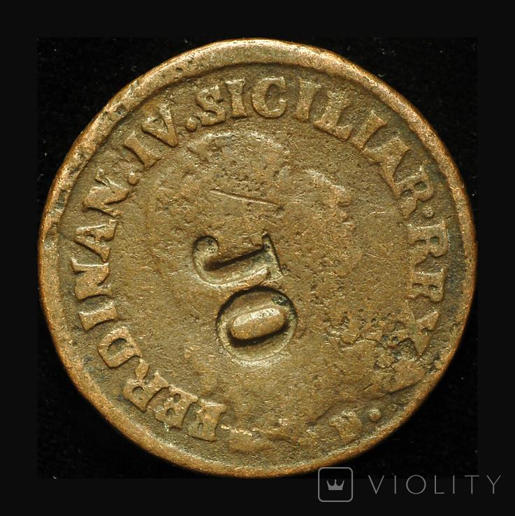 Королевство Обоих Сицилий 12 кавалли 1793 надчекан JO, фото №2