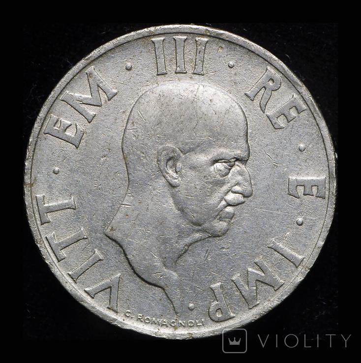 Италия 2 лиры 1936 редкий год, фото №3